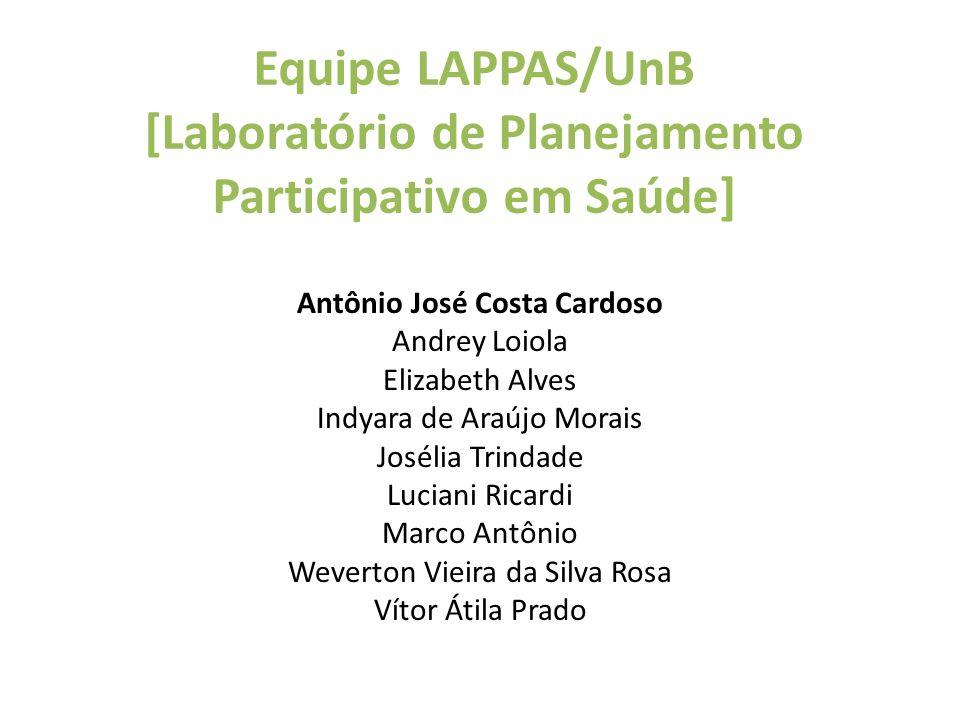 Equipe LAPPAS/UnB [Laboratório de Planejamento Participativo em Saúde]